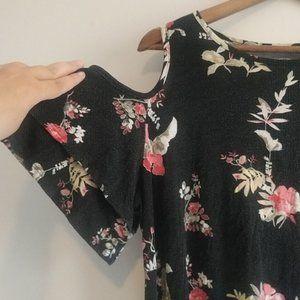 Maurices Plus size floral cold shoulder top